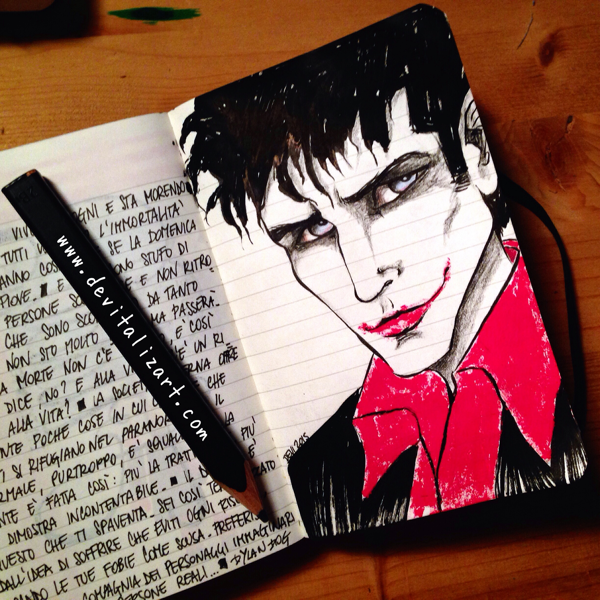 Se Dylan potesse fare il cosplay di qualcuno immagino che sceglierebbe il Joker. Perché è un bipolare, Dylan, non il Joker. (Comunque dopo Amélie ho jokerizzato pure il mio amato, perdono.)