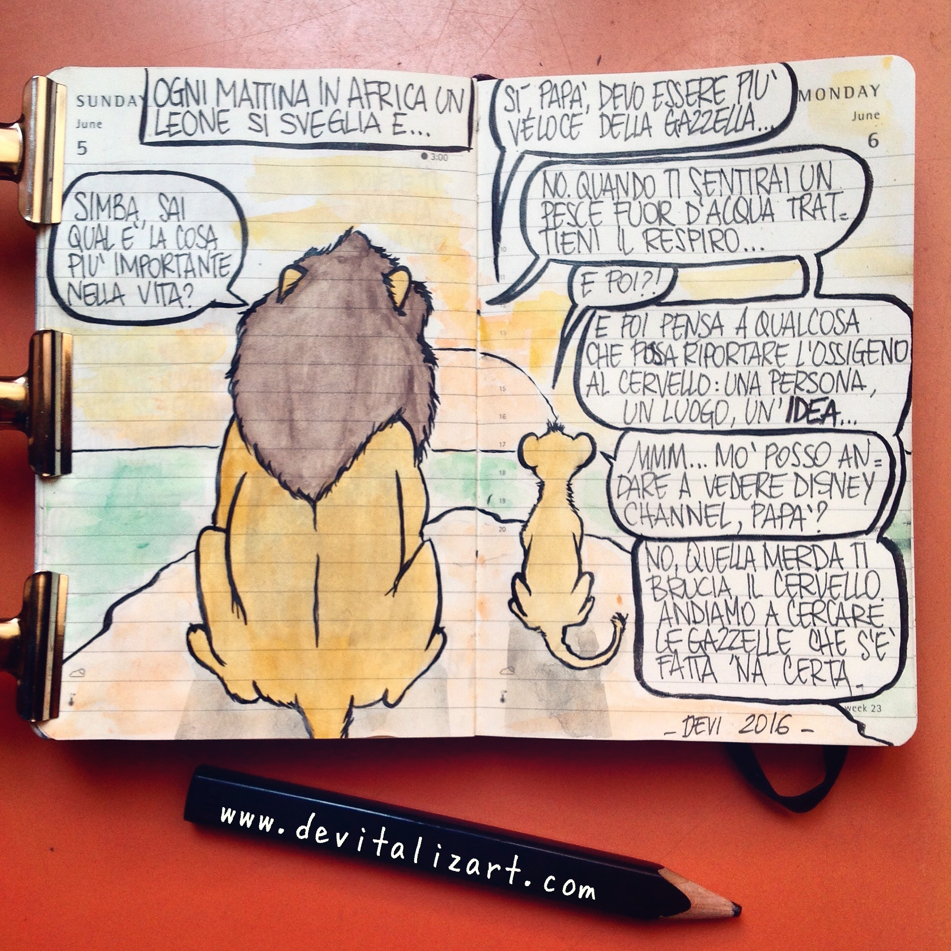 L'esistenzialismo (dei leoni) del lunedì.