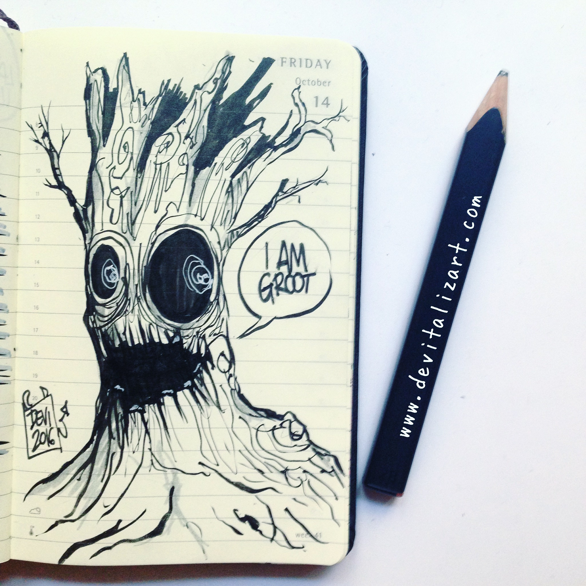 Inktober day 14: TREE.